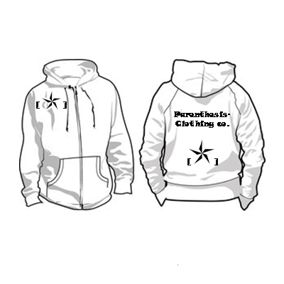 400x400 Parenthesis Clothing Hoodie By Japanese Paper Crane