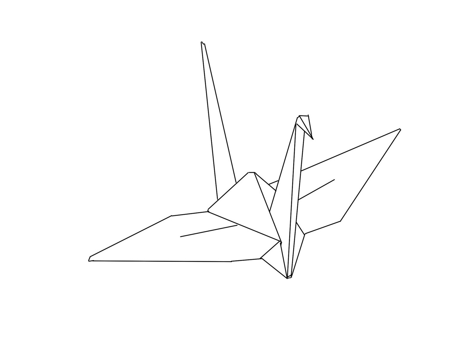 1600x1200 The Kitchen Table Crafter Free Digi Sketch Origami Peace Crane