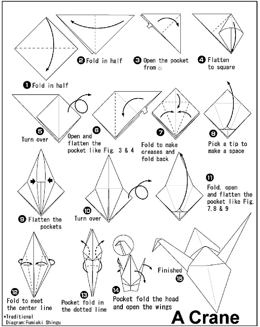 830x1044 The Classic Paper Crane Myfoldingpaper