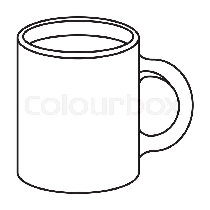 800x800 Mug Icon. Coffee Beverage Breakfast And Drink Theme. Isolated