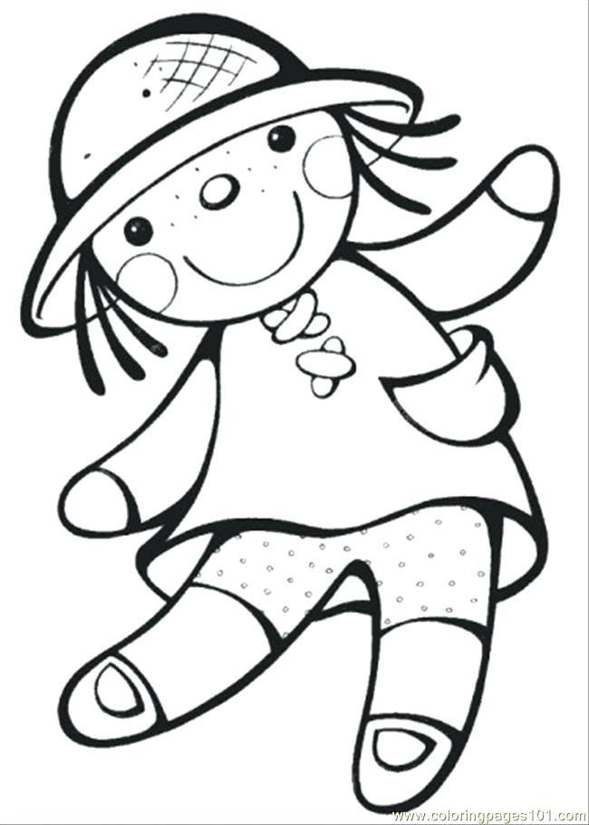 650x910 Doll For Coloring Surprising Doll Coloring Pages On Line Drawings