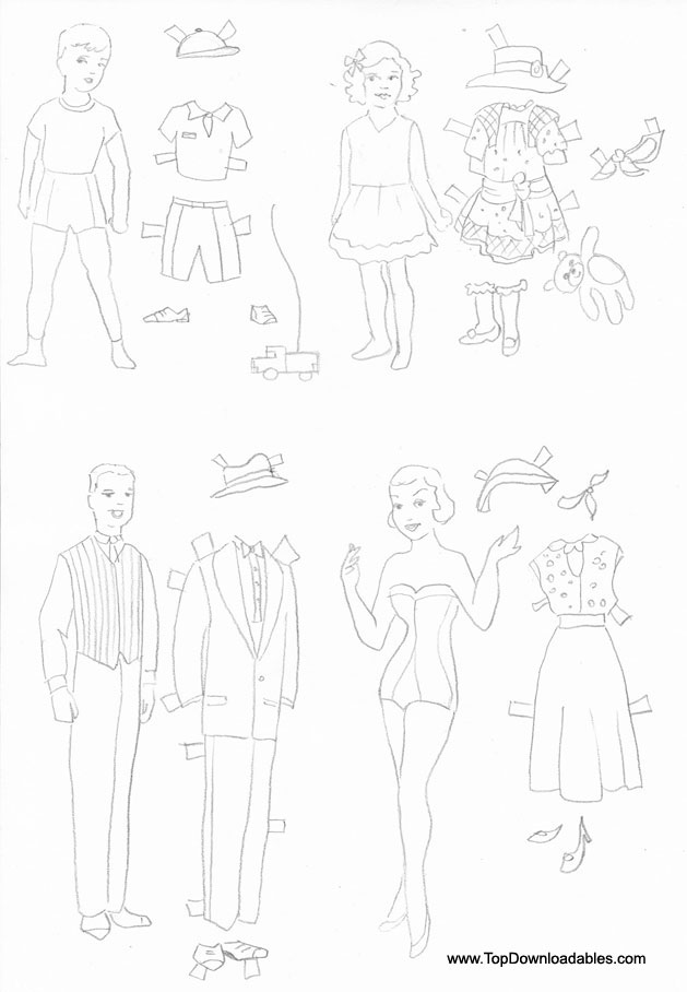 629x908 Free Printable Paper Doll Cutout Templates For Kids And Adults