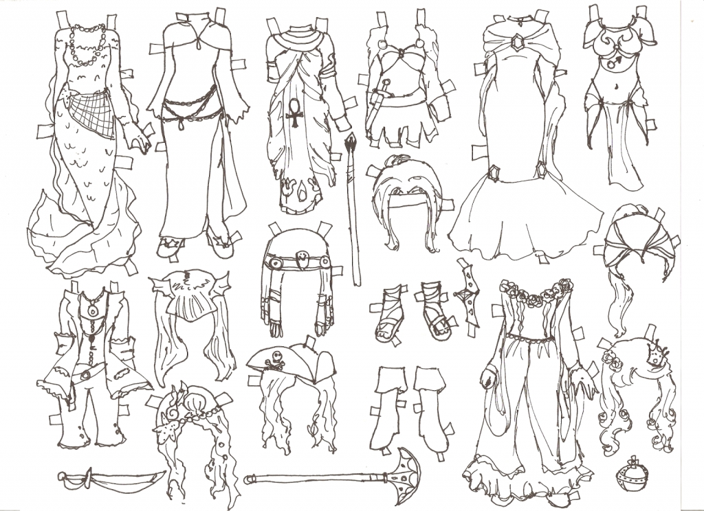 1024x744 How To Draw Fantasy Characters Miss Missy Paper Dolls Fantasy