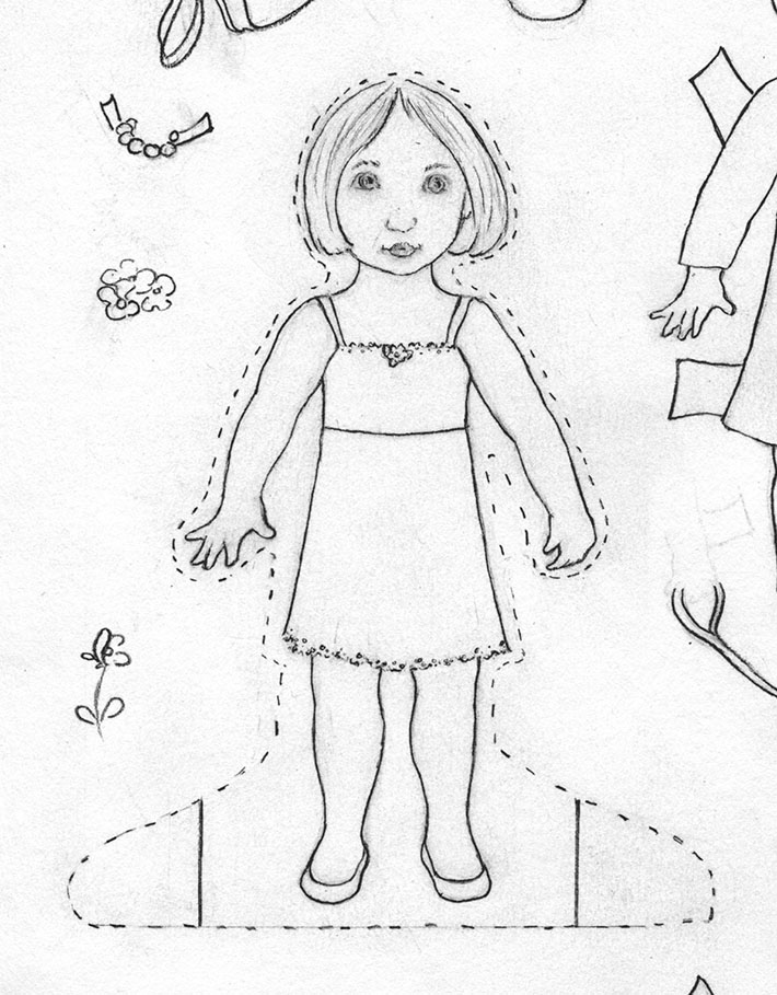 710x909 How To Make Paper Dolls