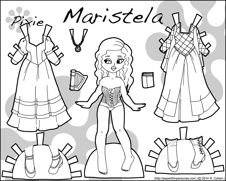 1500x1200 A Purple Princess Paper Doll Named Maristela Paper Thin Personas
