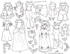 236x182 Mermaid Paper Doll In Black And White Marisole Monday White