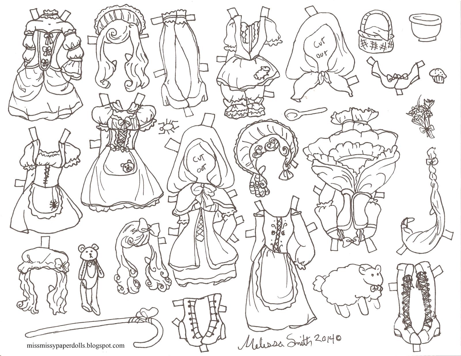 1600x1237 Miss Missy Paper Dolls Halloween Paper Doll 2014