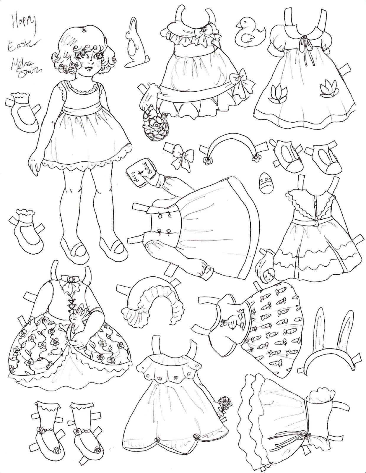 1239x1600 Miss Missy Paper Dolls Happy Easter Paper Doll