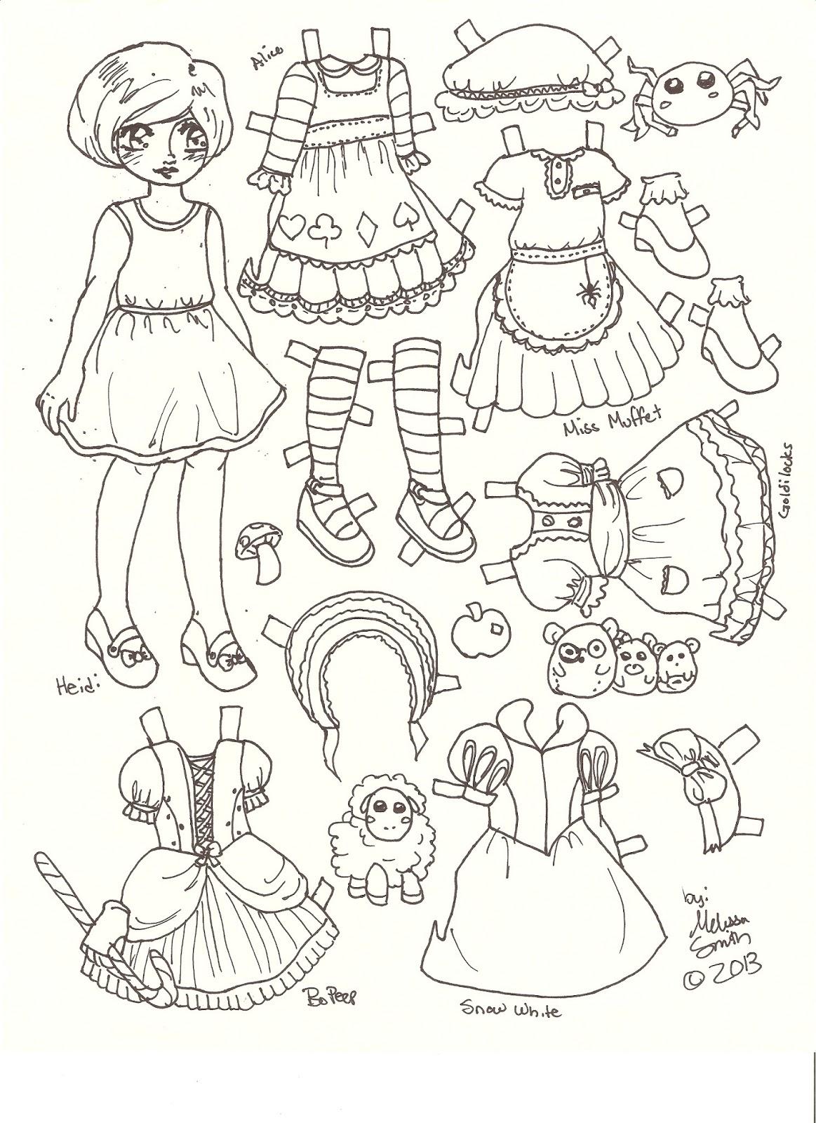 1163x1600 Miss Missy Paper Dolls Heidi Fairy Tale Style Paper Doll