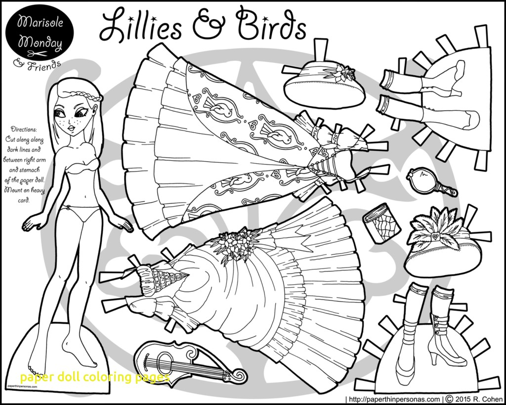 1024x819 Paper Doll Coloring Pages With Dolls