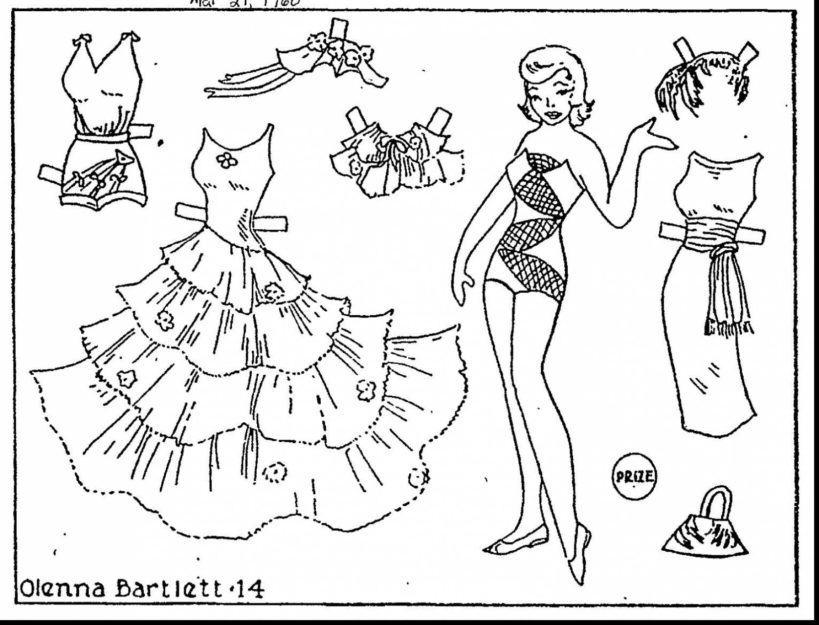 1675x1279 Paper Dolls Coloring Pages Free Draw To Color