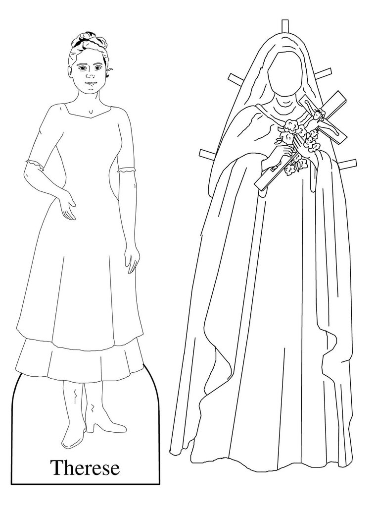 762x1049 St Therese Of The Child Jesus Paper Doll By Cecilia Pekelharing