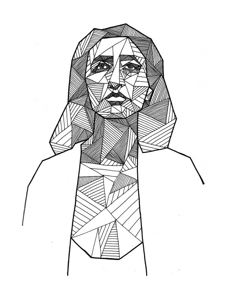 736x981 21 Best Geometric Portraits By Allison Kunath Images