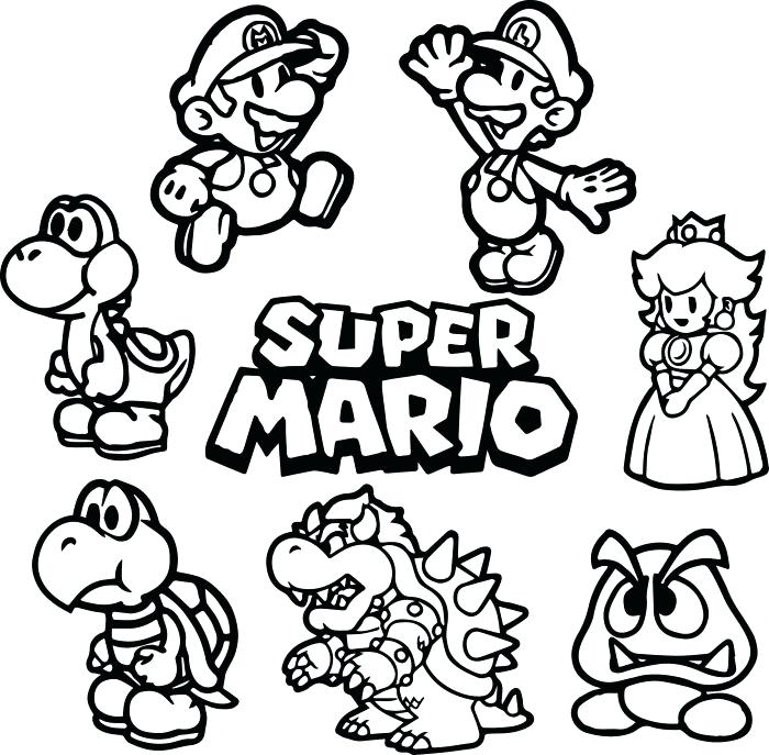 Paper Mario Drawing at GetDrawings.com | Free for personal use Paper ...