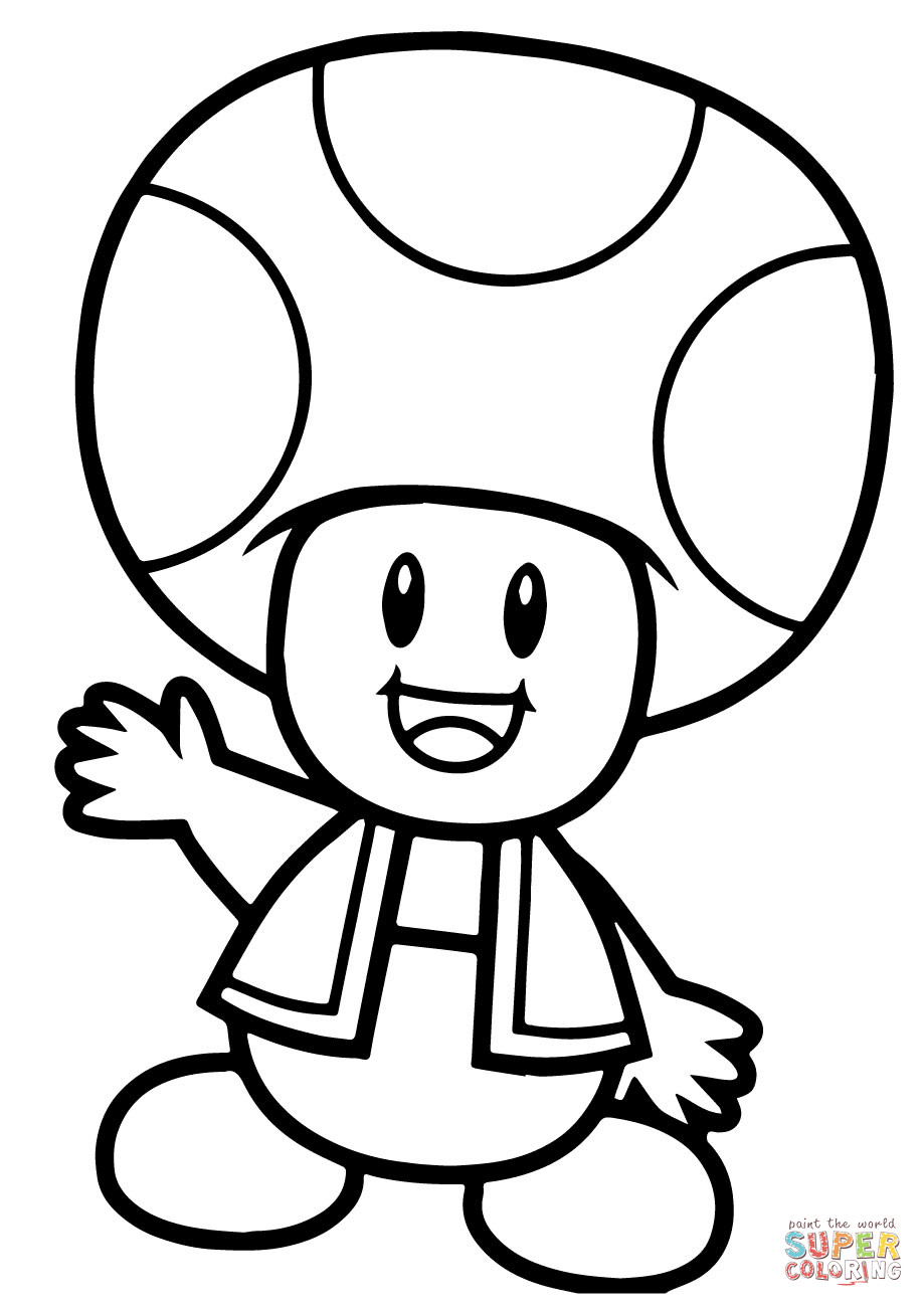 919x1300 Coloring Pages Appealing Draw A Toad Super Mario