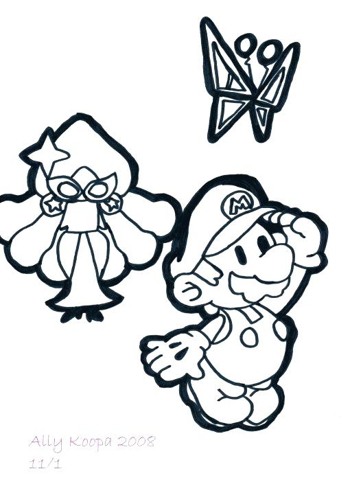 510x702 Super Paper Mario Coloring Pages Post By On 4 At Super Paper Mario