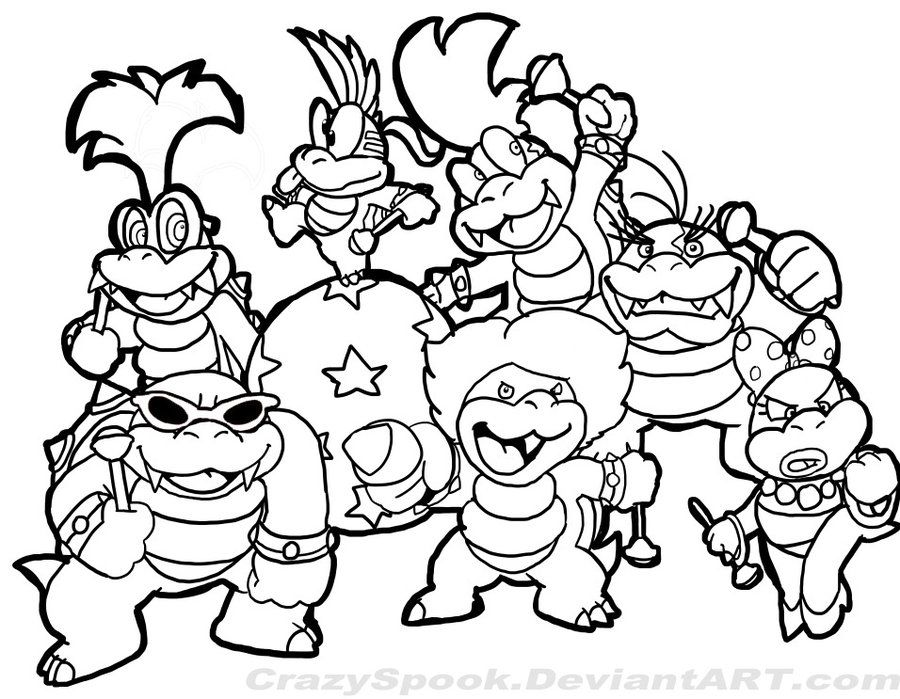 900x699 Super Mario Coloring Pages The Sun Flower