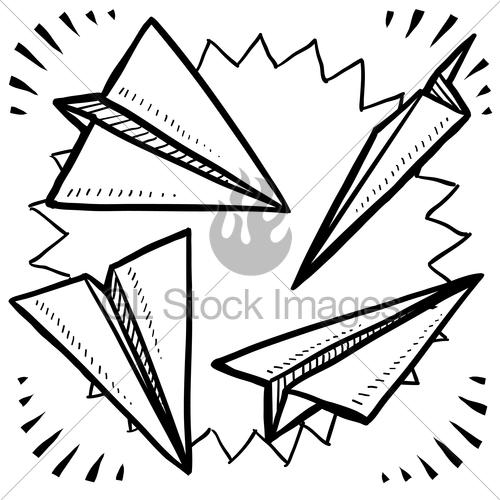500x500 Drawn Airplane Doodle