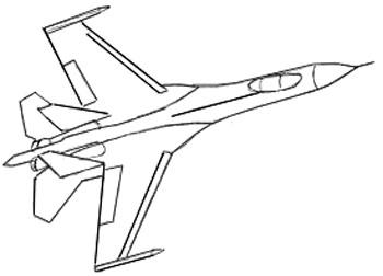 350x252 Drawn Airplane Line Drawing