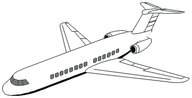 800x409 Outstanding Plane Coloring Page 14 For Line Drawings With Plane