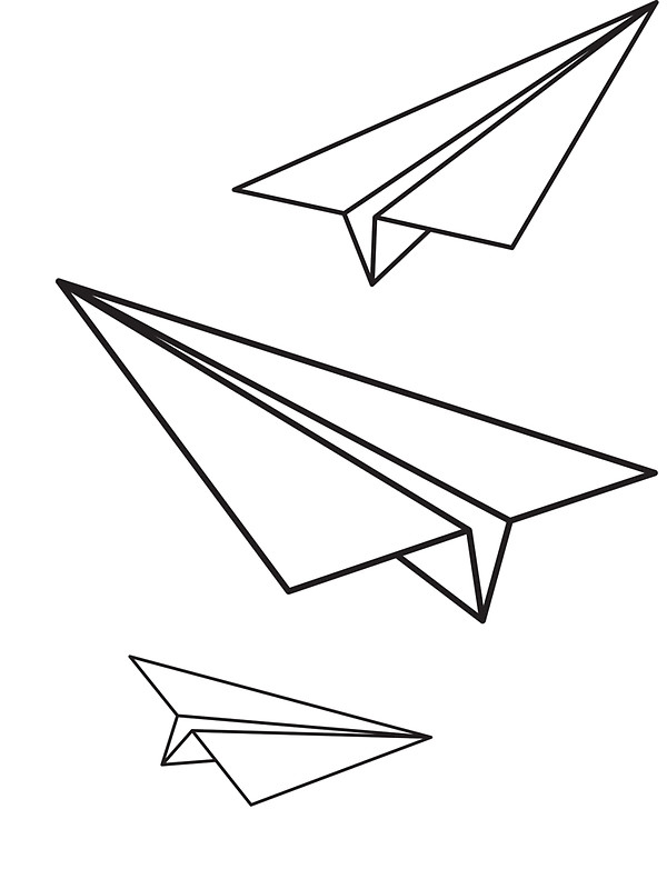 600x800 Paper Planes Stickers By Drifterthreads Redbubble