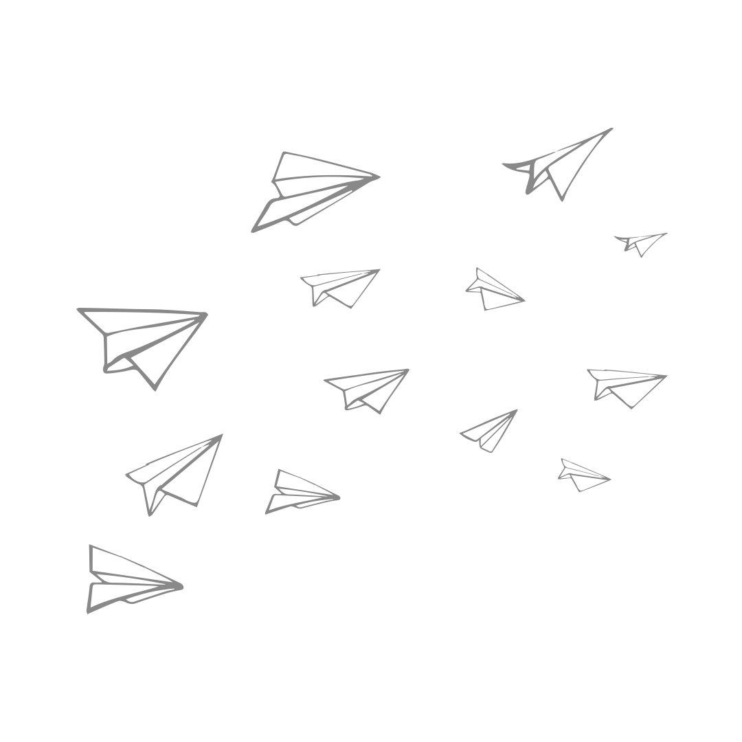 1080x1080 Paper Planes Stickaroo