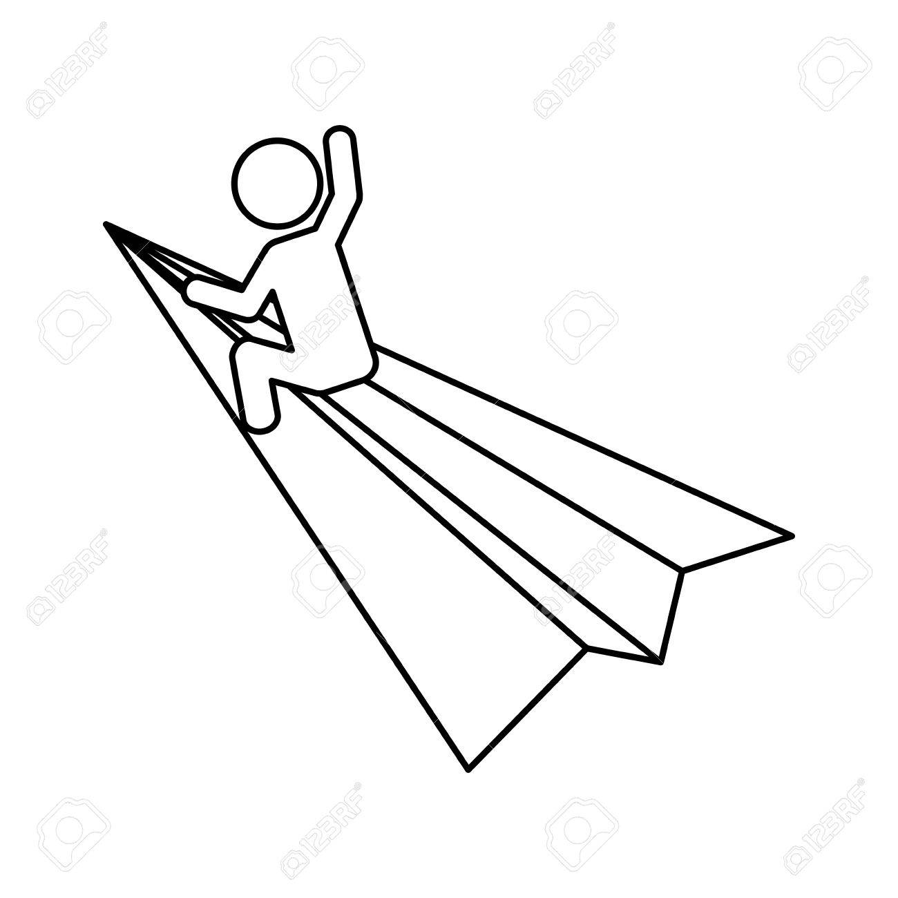 1300x1300 Start Up Concept Represented By Paper Plane And Pictogram Icon