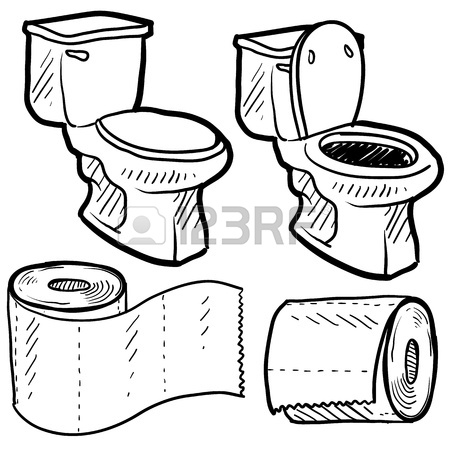 450x450 Toilet Paper Roll On Orange Holder Royalty Free Cliparts, Vectors