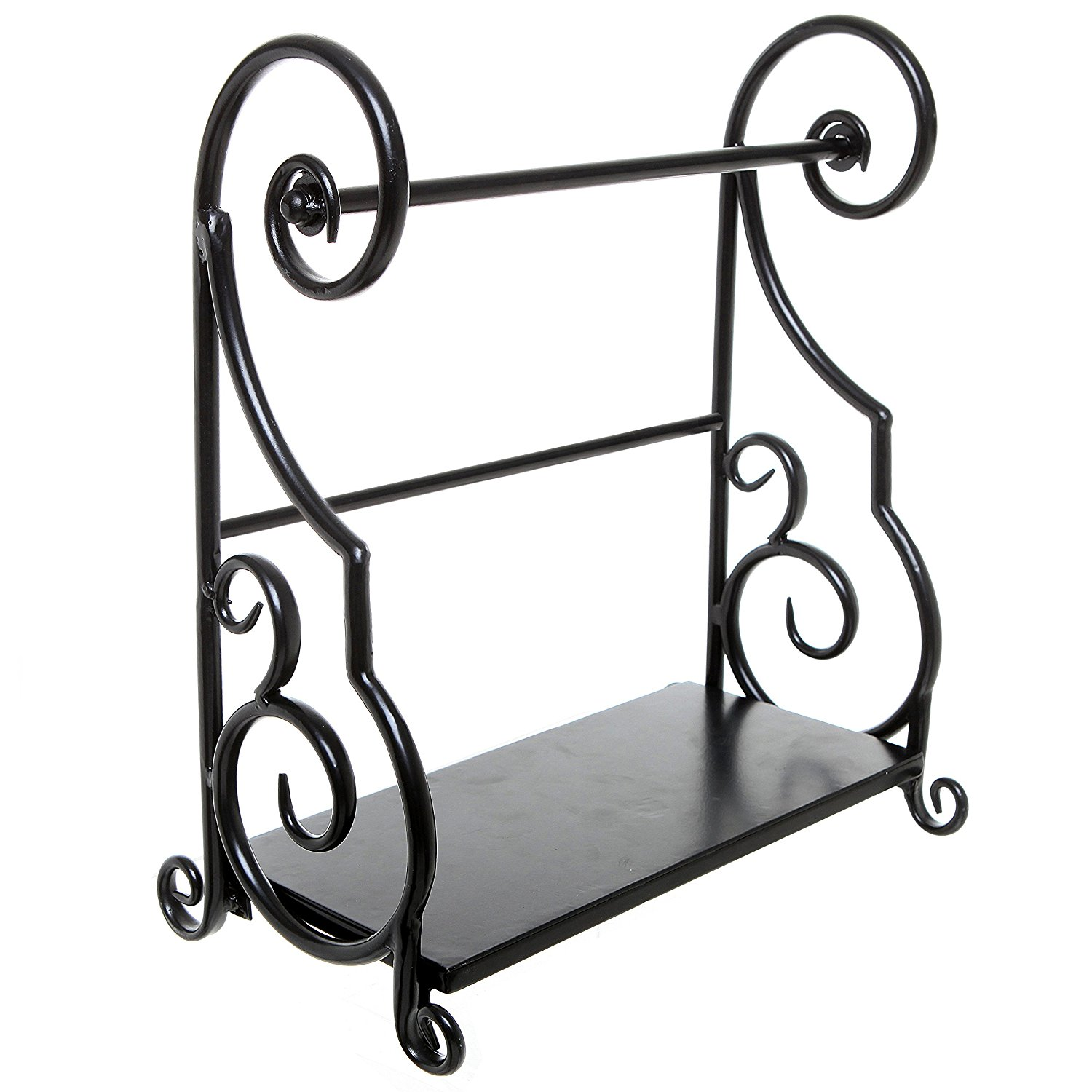 1500x1500 Decorative Black Metal Scrollwork Design Freestanding