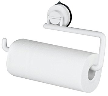 355x316 Bathla Suction Plastic Kitchen Roll Holder Towel Hanger (White