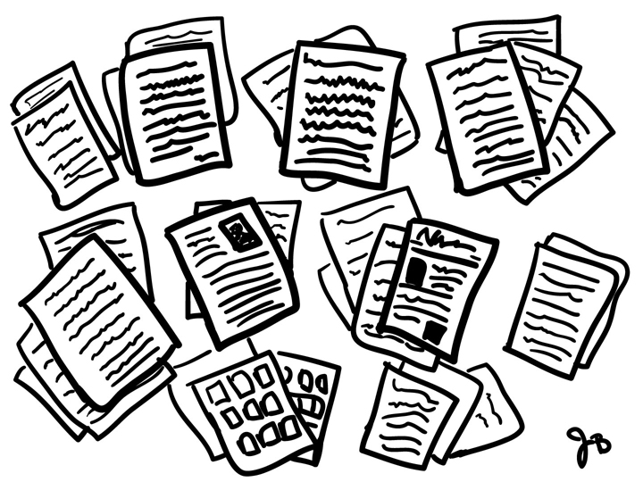 720x540 Noise Cycle Archives 112 Piles Of Papers (Illustration)