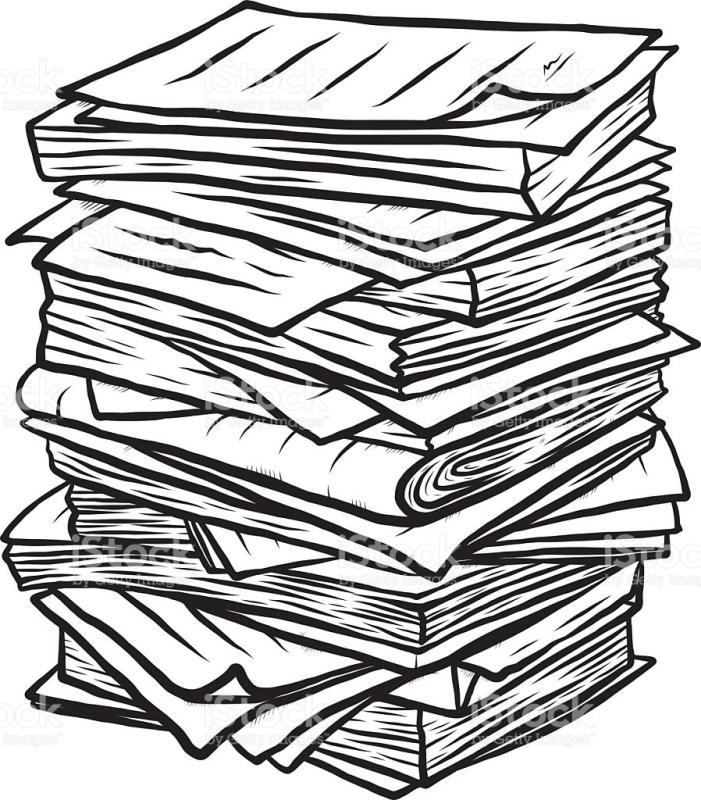 701x800 Stack Of Papers Clipart