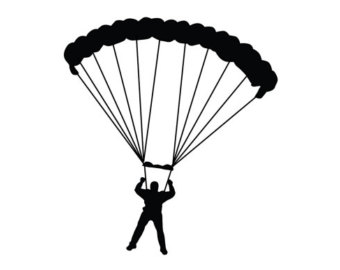 340x270 Jump Art Print Parachute Printable Parachute Wall Art Sky