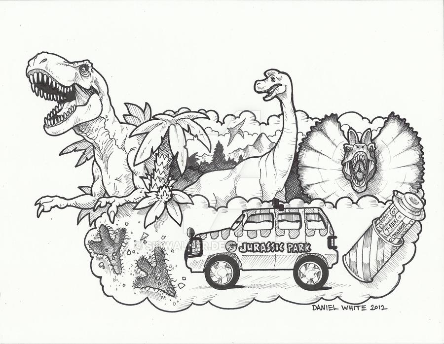900x698 Jurassic Park Float By Sidwalker