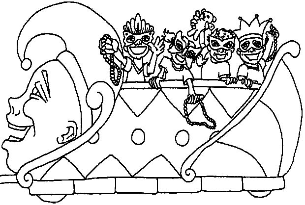 620x418 Mardi Gras Parade Coloring Pages Floasts Mardi Gras Coloring Page