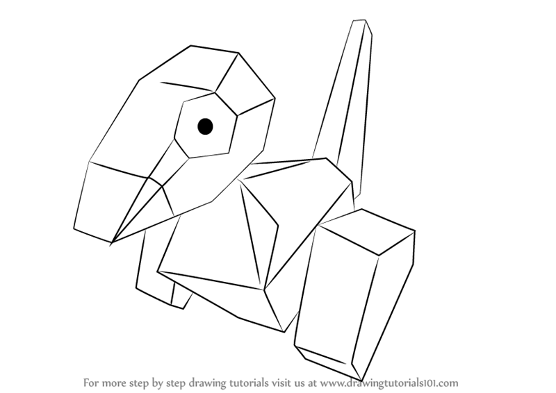 800x566 Learn How To Draw Porygon From Pokemon (Pokemon) Step By Step