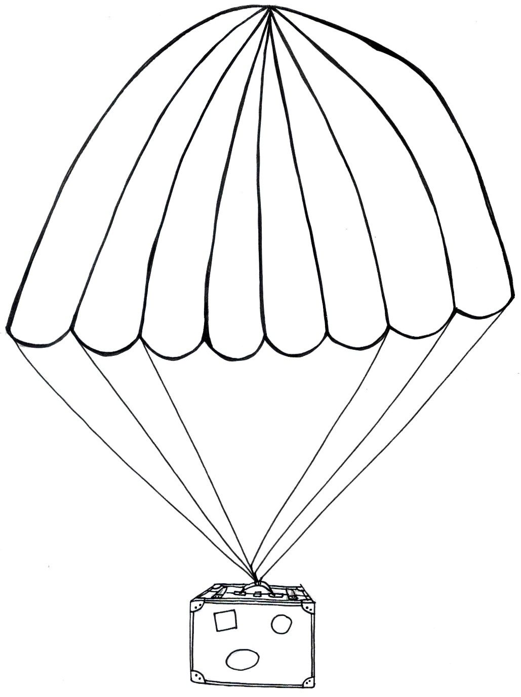 1029x1377 Parachute Coloring Pages
