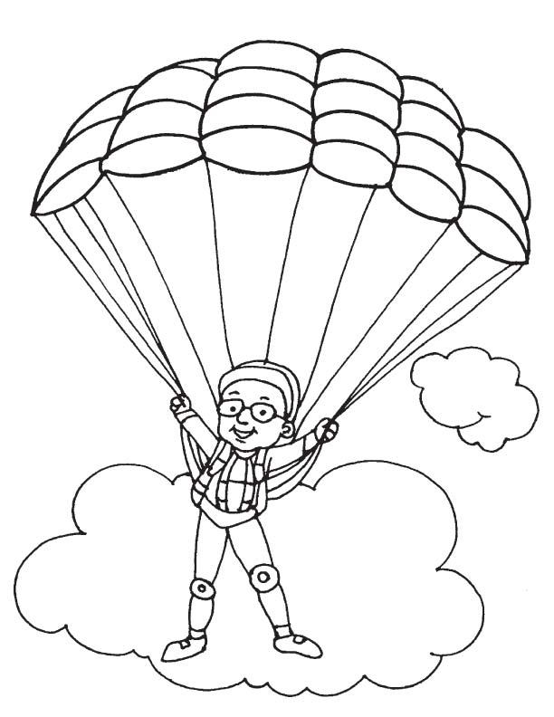 612x792 Parachuting Coloring Page Download Free Parachuting Coloring