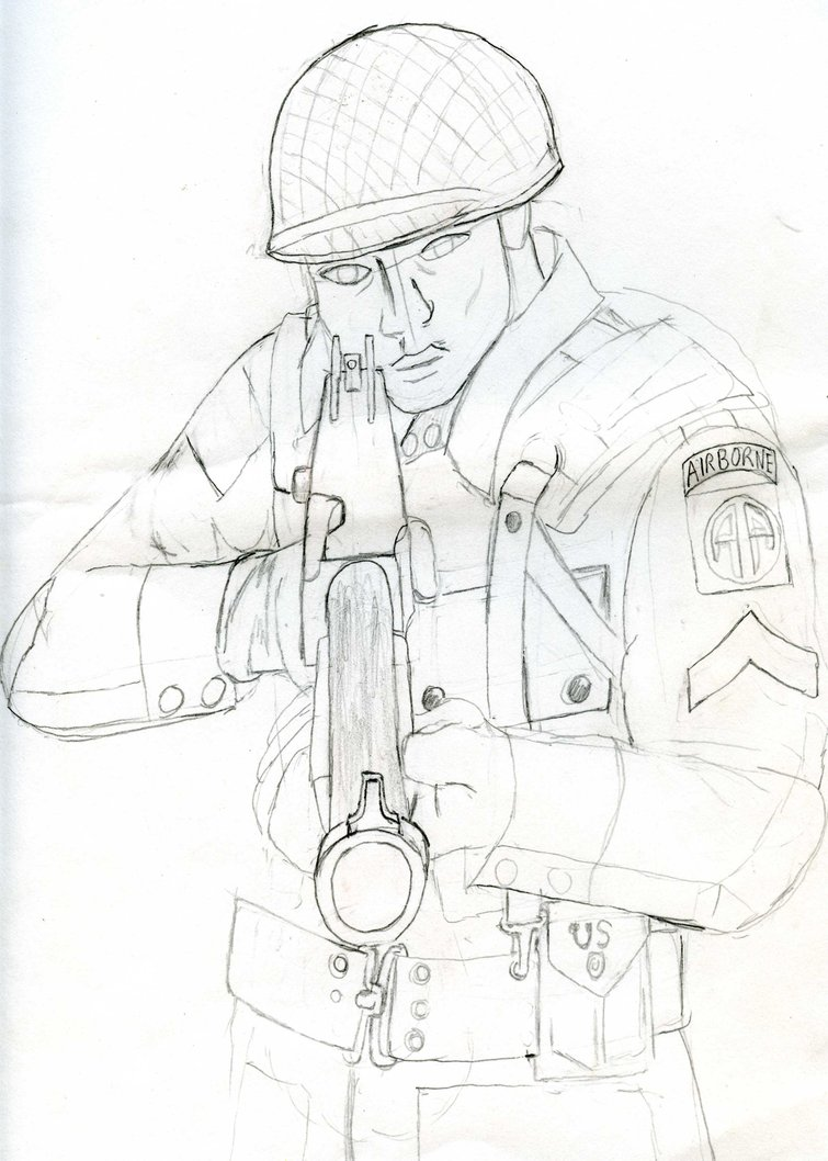 755x1058 Paratrooper Tommy Gun Front By Tomlion