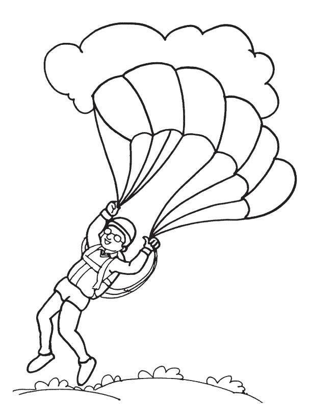 612x792 Paratrooper Landing Coloring Page Download Free Paratrooper