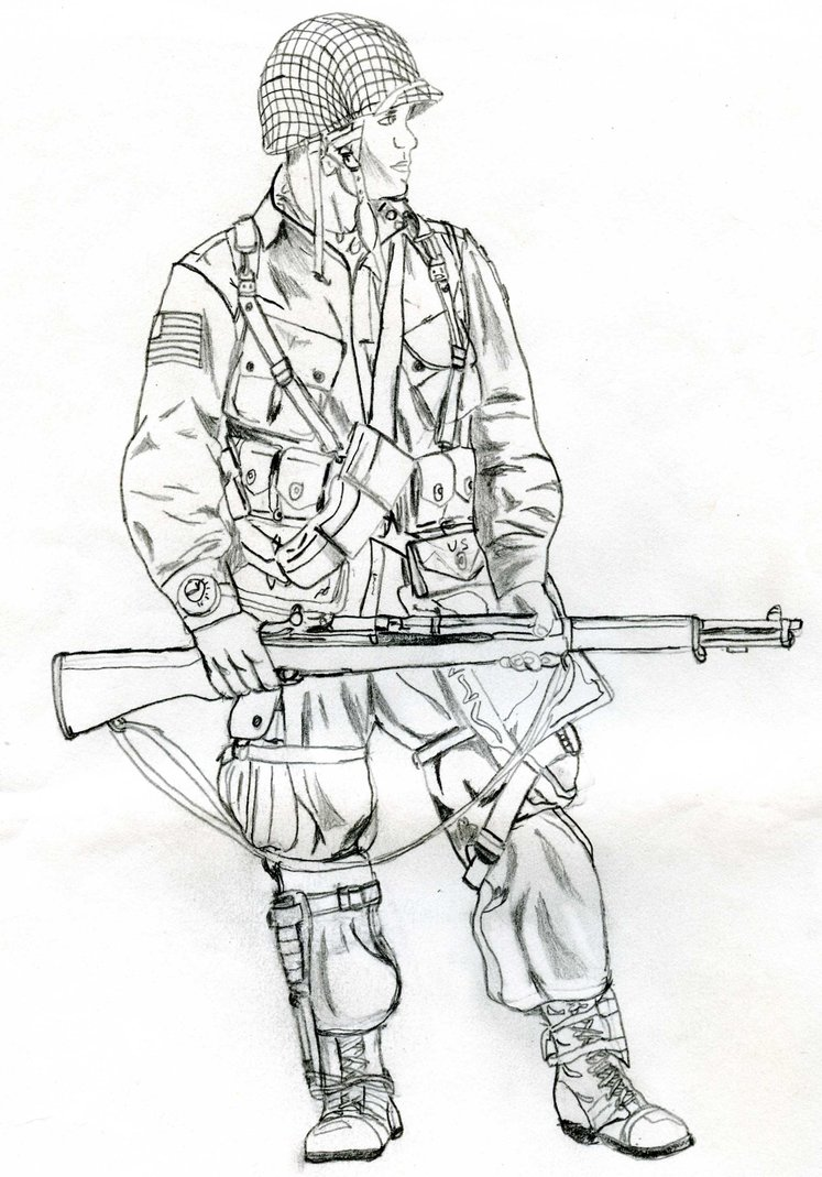 747x1069 Paratrooper With M 1 By Tomlion