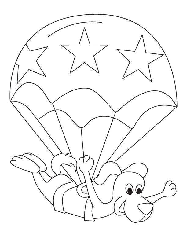 612x792 Toodler Parachute Picture To Color Download Free Toodler