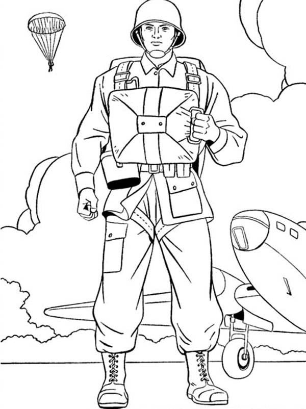 600x802 Us Paratroopers Celebrating Veterans Day Coloring Page