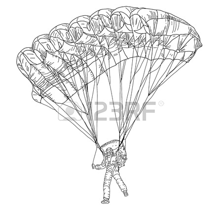 450x450 A Silhouette Of A Skydiver Or Parachutist Royalty Free Cliparts