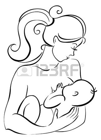 324x450 Mother And Baby Icon Woman Family Child Line Drawing Sketch