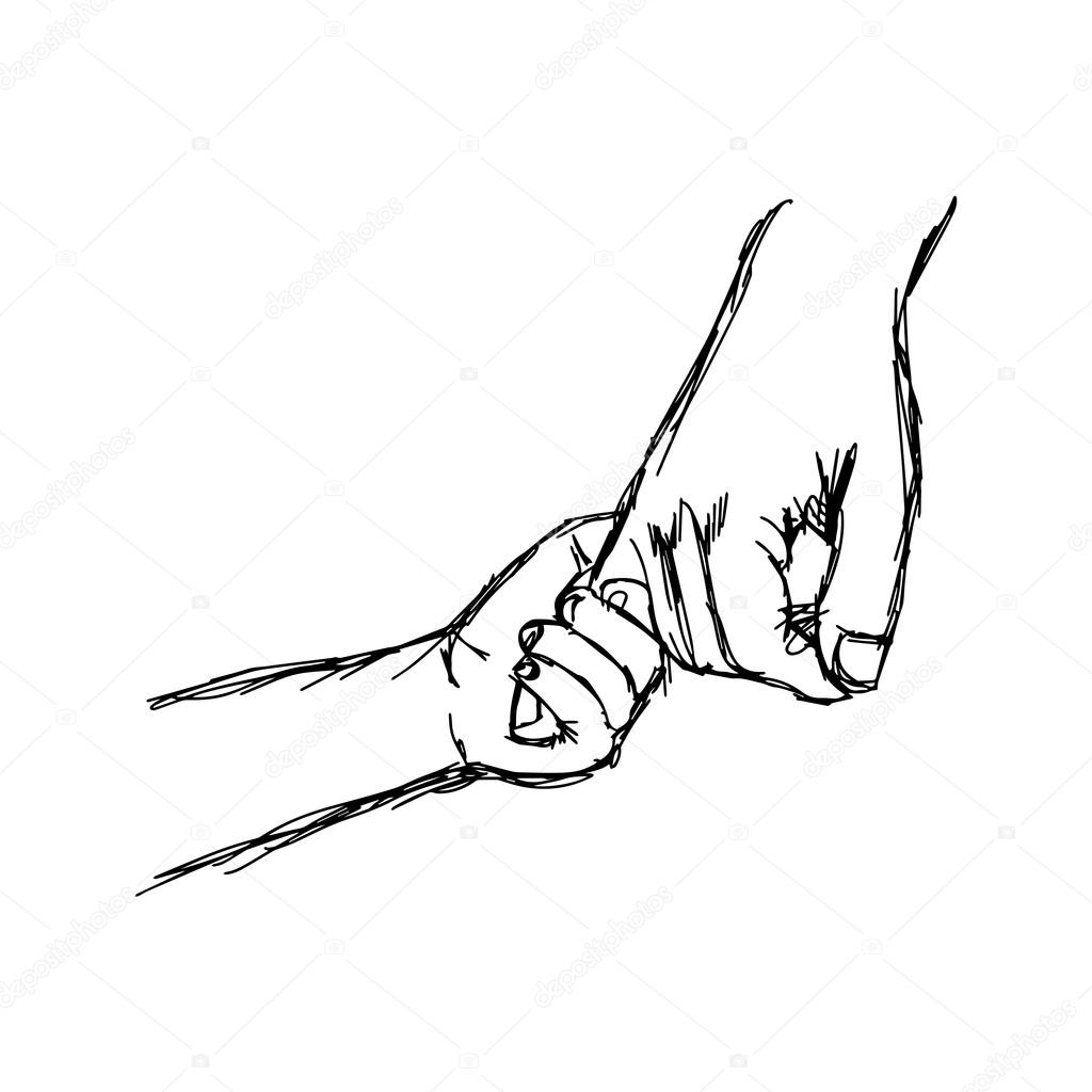 1024x1024 Illustation Vector Parent Holds The Hand Of A Little Child Stock