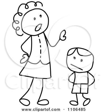 450x470 Clipart Stick Drawing Of A Happy Black Mother And Daughter Holding