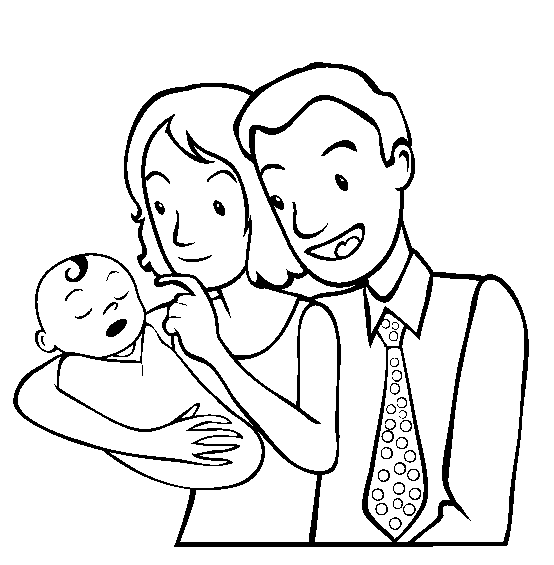 554x565 Parents Day Coloring Pages
