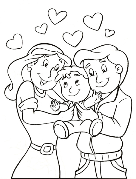 456x600 Parents Day Coloring Pages Parents Day Parents