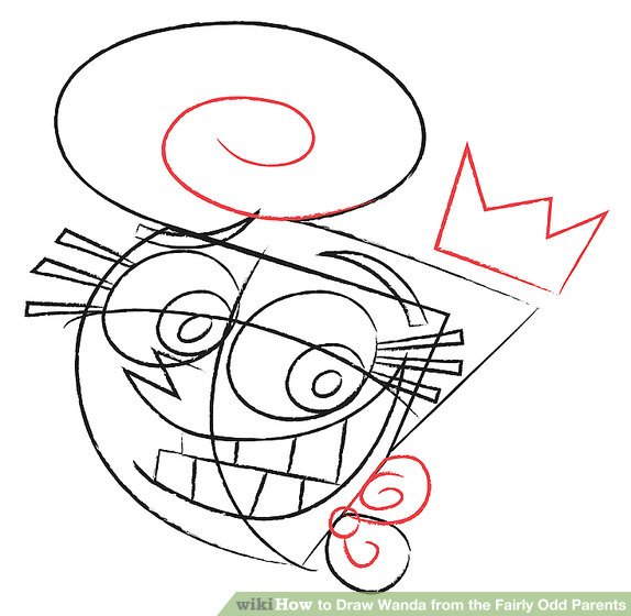 574x560 How To Draw Wanda From The Fairly Odd Parents 8 Steps
